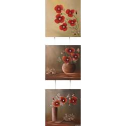 Triptyque - Bouquets de coquelicots