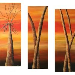 Triptyque - Arbres de la savane 1&2&3