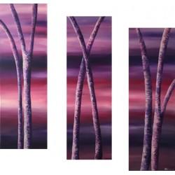Triptyque - Arbres du crépuscule 1&2&3