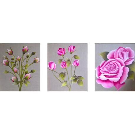 Triptyque - Bouquets de roses 1&2&3