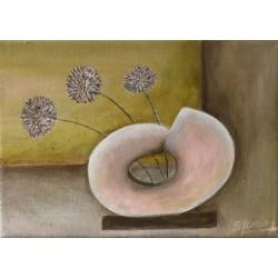Vase rose opaque