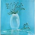 Vase blanc transparent